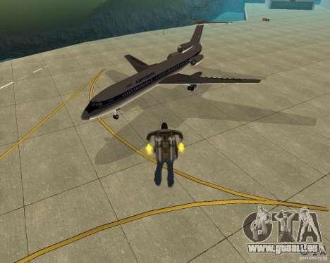 Transport aérien Pak pour GTA San Andreas laissé vue