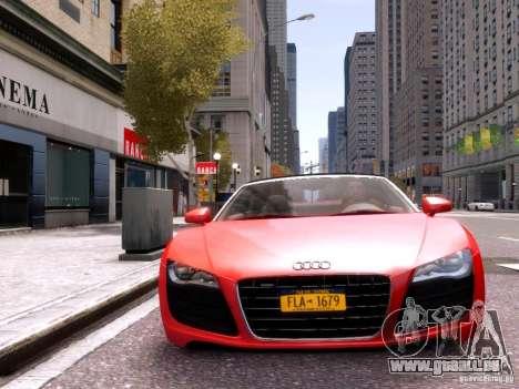 Audi R8 Spyder 5.2 FSI quattro V4 EPM pour GTA 4 vue de dessus