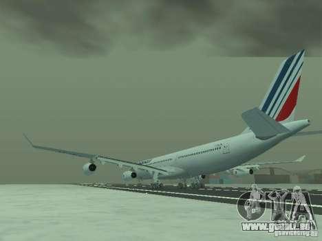 Airbus A340-300 Air France für GTA San Andreas zurück linke Ansicht