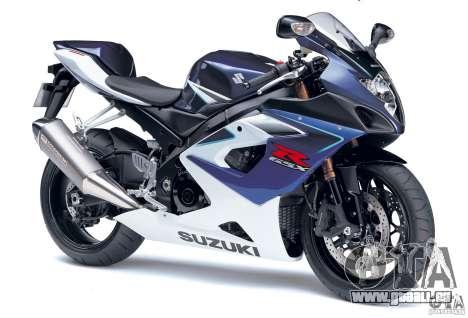 Suzuki GSX-R 1000 für GTA Vice City rechten Ansicht