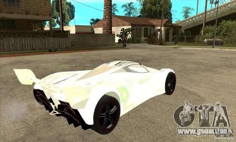 Mazda Furai pour GTA San Andreas vue de droite