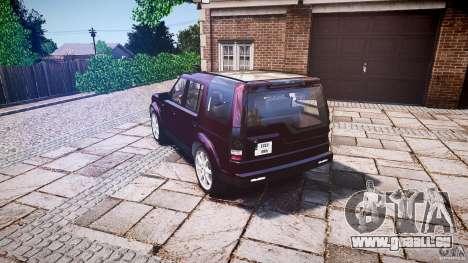 Land Rover Discovery 4 2011 pour GTA 4 Vue arrière de la gauche
