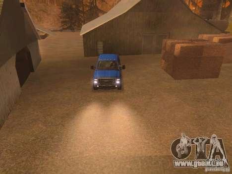 Ford F350 für GTA San Andreas Innen