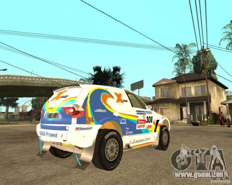 BMW X3CC X-Raid pour GTA San Andreas vue de droite