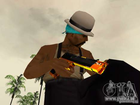 Black and Yellow weapons für GTA San Andreas