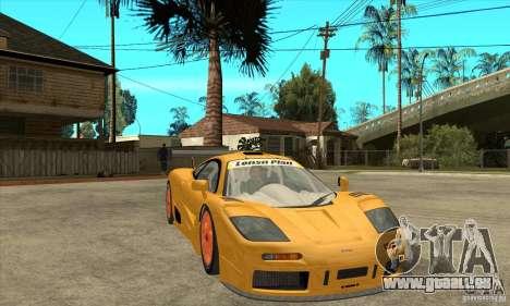 McLAREN F1 GTR GULF 1996 für GTA San Andreas Rückansicht