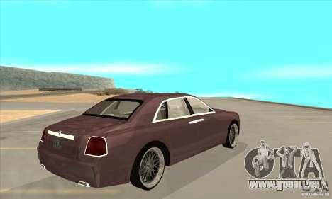 Rolls-Royce Ghost 2010 pour GTA San Andreas vue de droite