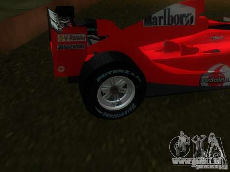 Ferrari F1 für GTA San Andreas zurück linke Ansicht