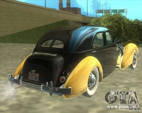 1937 Cord 812 Charged Beverly Sedan für GTA San Andreas rechten Ansicht