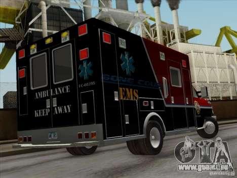 Ford E-350 AMR. Bone County Ambulance für GTA San Andreas Seitenansicht