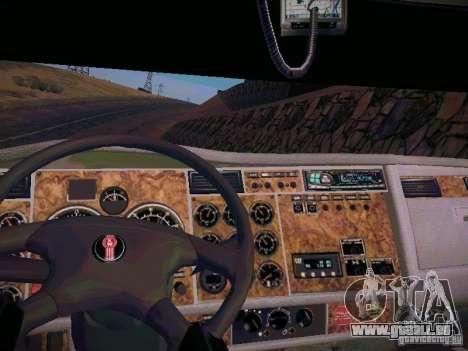 Kenworth W900 für GTA San Andreas Rückansicht