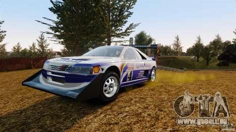 Peugeot 405 T16 Pikes Peak für GTA 4 Rückansicht