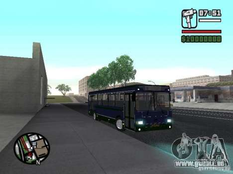 LIAZ 5256.25-II für GTA San Andreas Innenansicht
