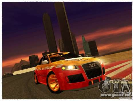 Audi RS4 Calibri-Ace für GTA San Andreas zurück linke Ansicht