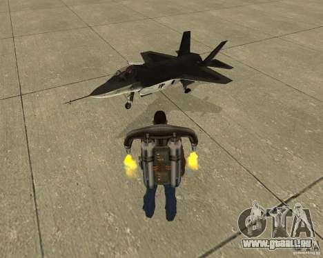 Transport aérien Pak pour GTA San Andreas vue de dessus