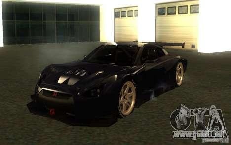 Nissan Skyline R35 GTR für GTA San Andreas Rückansicht