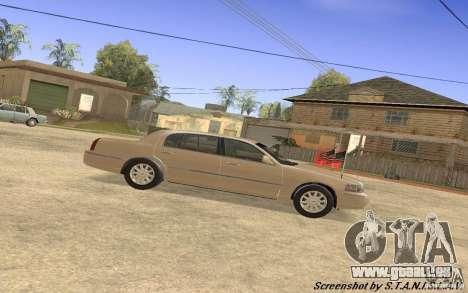 Lincoln Towncar Secret Service pour GTA San Andreas sur la vue arrière gauche