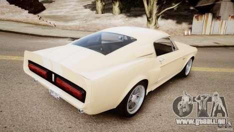 Shelby Mustang GT500 Eleanor v.1.0 Non-EPM pour GTA 4 Vue arrière de la gauche
