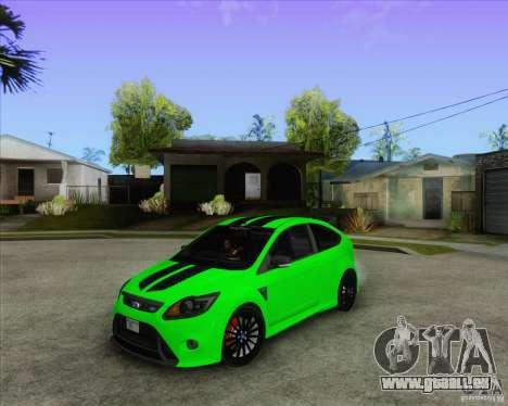 Ford Focus RS pour GTA San Andreas vue intérieure