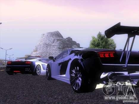 Lamborghini Gallardo Racing Street pour GTA San Andreas vue de droite