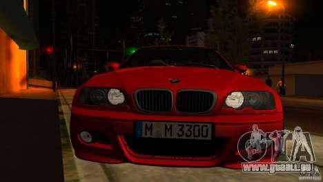 BMW M3 e46 für GTA San Andreas obere Ansicht