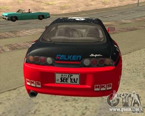 Toyota Supra by Cyborg ProductionS pour GTA San Andreas vue de droite