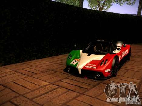 Pagani Zonda R für GTA San Andreas Rückansicht