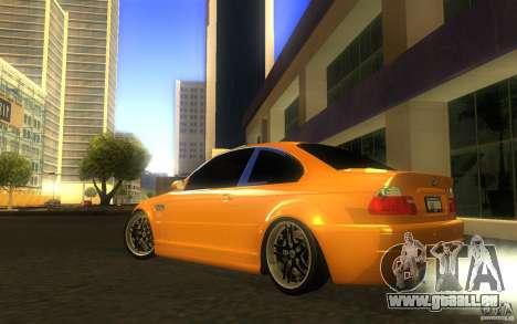 BMW M3 E46 V.I.P für GTA San Andreas obere Ansicht