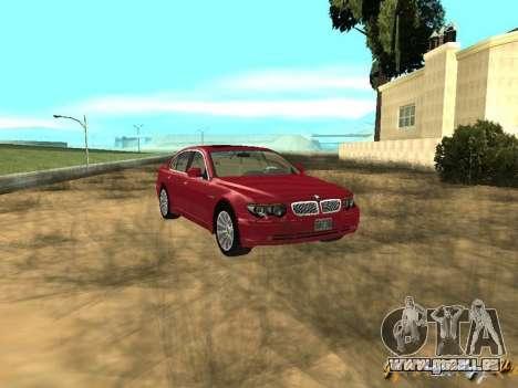 BMW 760I 2002 für GTA San Andreas Rückansicht