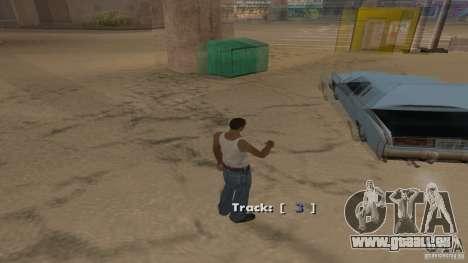 Music car v4 pour GTA San Andreas quatrième écran