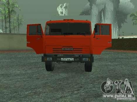 Camion à ordures 53215 KAMAZ pour GTA San Andreas vue arrière