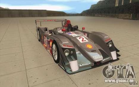 Audi R10 LeMans - Stock für GTA San Andreas Rückansicht