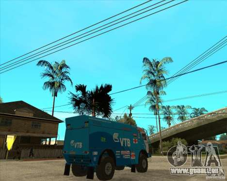 KAMAZ 4911 (2007) Rally Raid version für GTA San Andreas zurück linke Ansicht