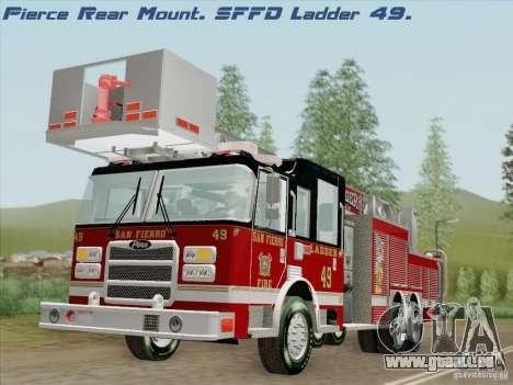 Pierce Rear Mount SFFD Ladder 49 für GTA San Andreas