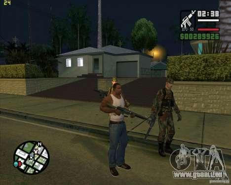 Waffen werfen für GTA San Andreas