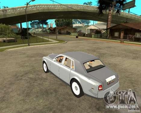 Rolls-Royce Phantom (2003) pour GTA San Andreas laissé vue