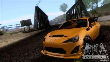 Scion FR-S 2013 pour GTA San Andreas vue arrière