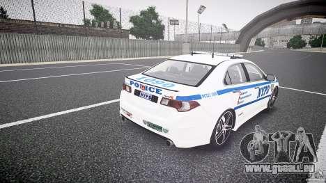Honda Accord Type R NYPD (City Patrol 1090) ELS pour GTA 4 est un côté