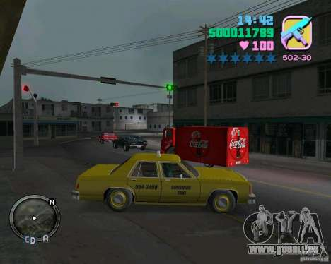 Ford Crown Victoria LTD 1985 Taxi für GTA Vice City linke Ansicht