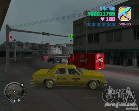 Ford Crown Victoria LTD 1985 Taxi pour une vue GTA Vice City de la gauche