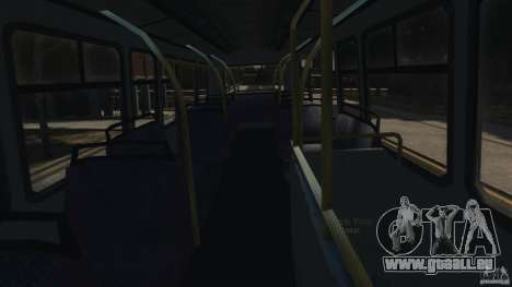 London City Bus pour GTA 4 vue de dessus