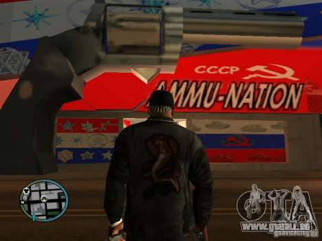 Russian Ammu-nation für GTA San Andreas her Screenshot