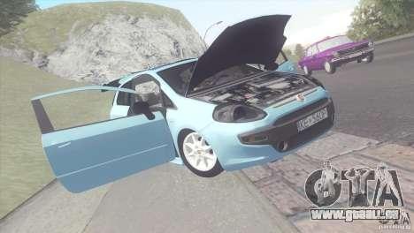 Fiat Punto pour GTA San Andreas sur la vue arrière gauche