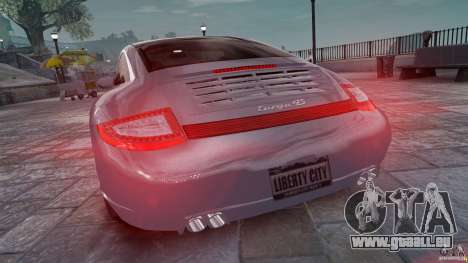 Porsche Targa 4S 2009 für GTA 4 hinten links Ansicht