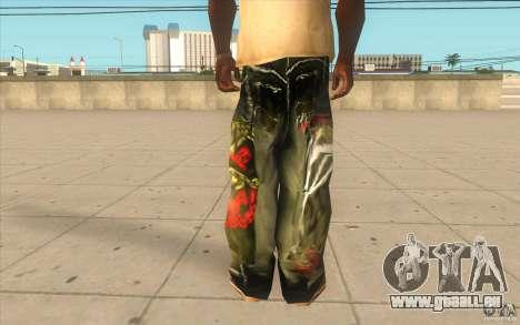 Hip-hop jeans pour GTA San Andreas troisième écran