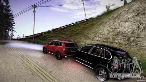 BEAM X5 Trailer pour GTA San Andreas laissé vue
