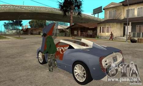 Spyker C12 Zagato für GTA San Andreas zurück linke Ansicht