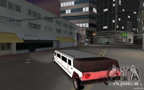 HUMMER H1 limousine für GTA Vice City zurück linke Ansicht