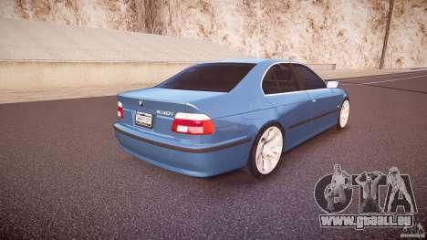 BMW 530I E39 e63 white wheels pour GTA 4 vue de dessus