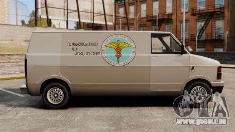 Neue coloring für van-Pony für GTA 4 linke Ansicht
